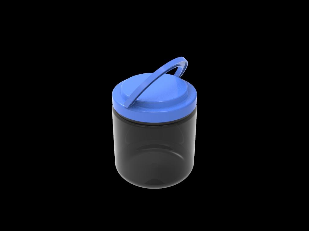 Банка пластиковая «Цилиндр», объём 1.8 л.