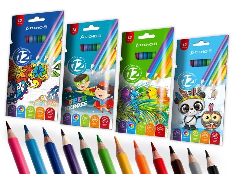 Набор карандашей, 12 цветов
