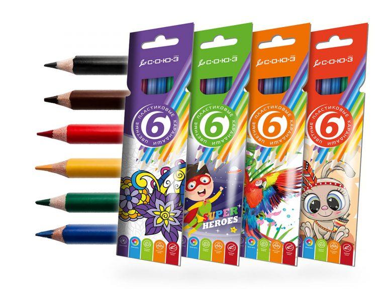 Набор карандашей, 6 цветов