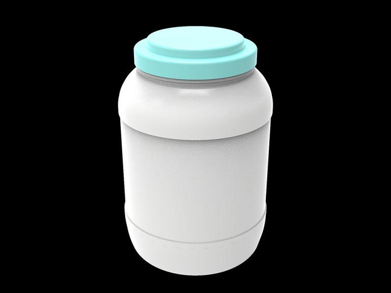 Банка пластиковая «Цилиндр», объём 5 л.