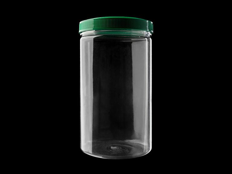 Банка пластиковая «Цилиндр», объём 1 л