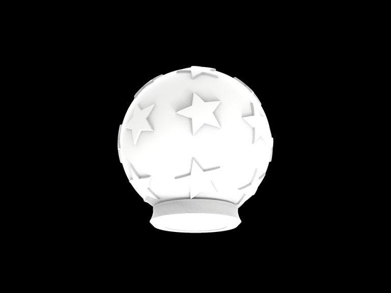 Банка декоративная «Шар со звездами», объём 1.2 л