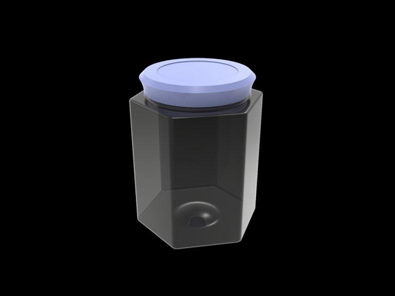 Банка пластиковая «Шестигранная», объём 0.6 л.