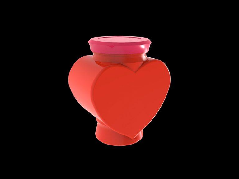 Банка декоративная «Сердце», объём 1.2 л.